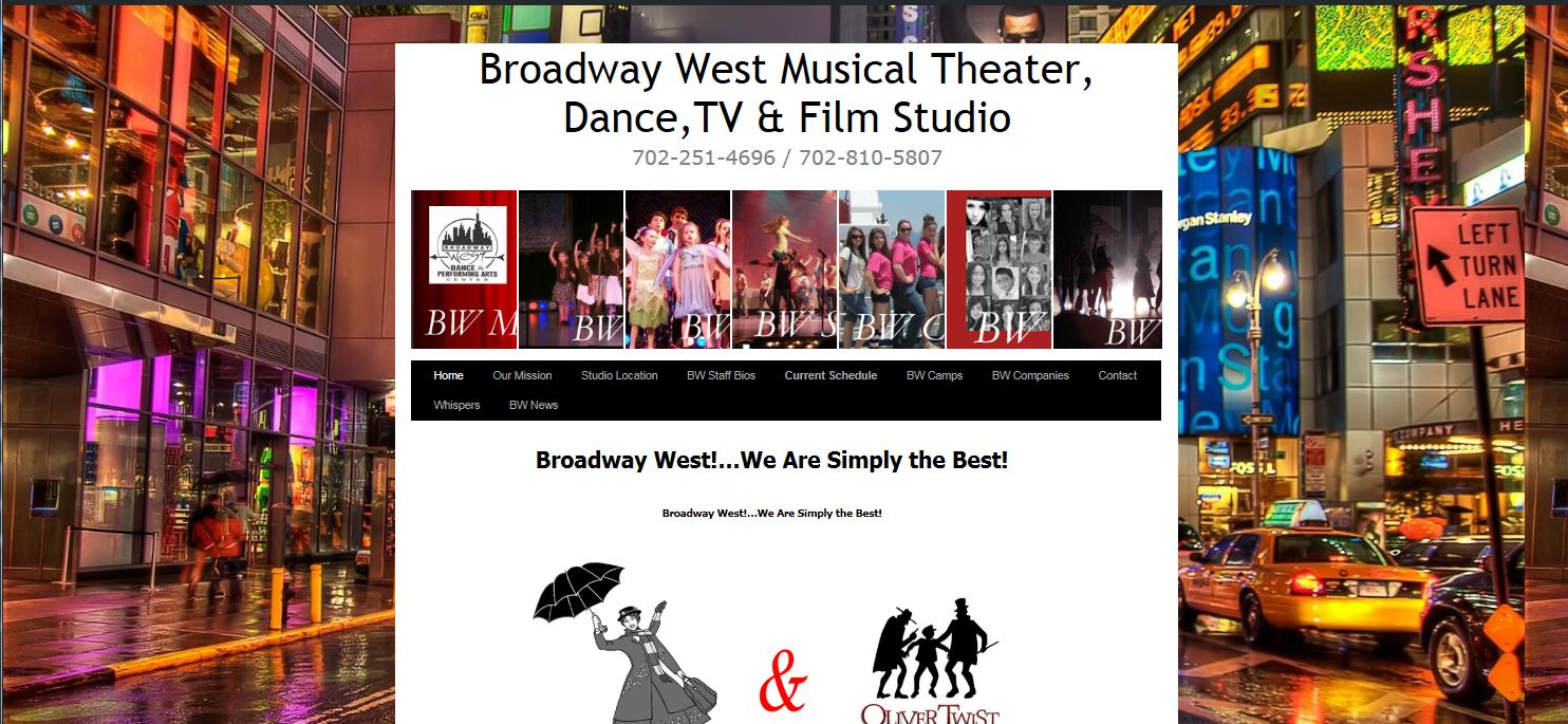Website #2  Broadway West Studio