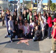 Adam's Trip to Hollywood with Broadway West to Dance for AGT. 2010