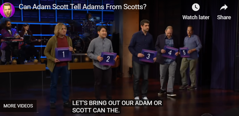 Adam books The Late Late Show with James Corden