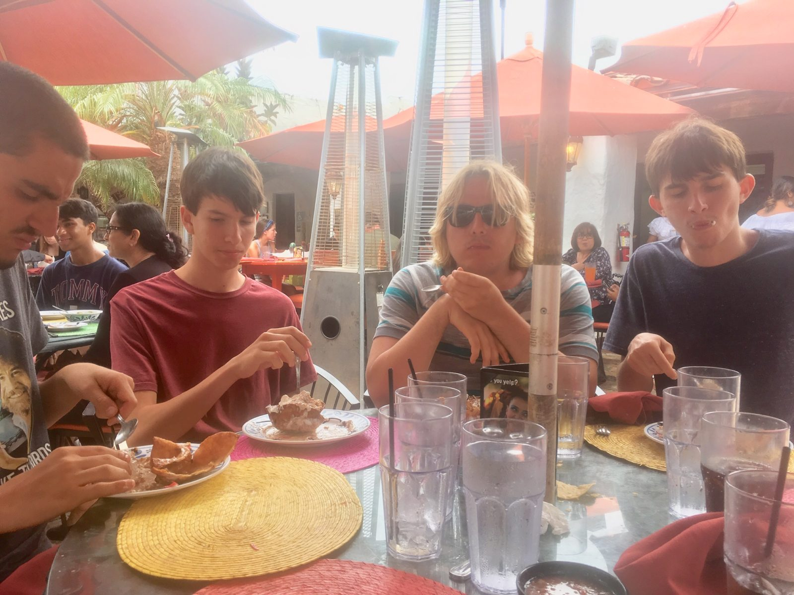 Adam,Blake,Kyle,and Aiden in Old Town San Diego