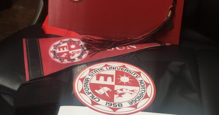 Adam exits CSUN with Honors